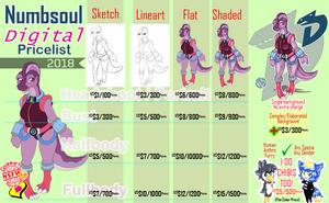 Digital Commissions Pricelist by Numbsoul