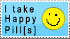 I Take Happy Pill's' stamp by GreenEyezz