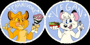 Vegan/Carnivore Stickers