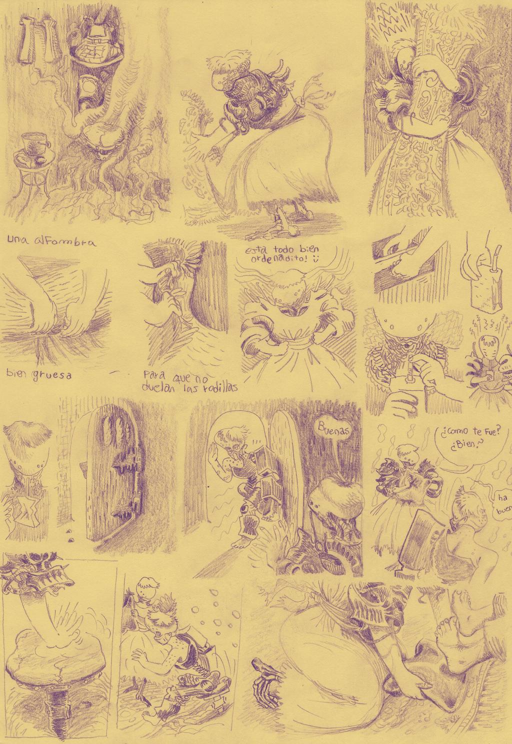 some comic sketch by niconosave