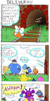 Rocket Slime Comic: Delivery by Momogirl