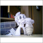 Paper child: Anna drilling