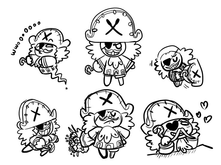 Pirate cookie doodles by Momogirl