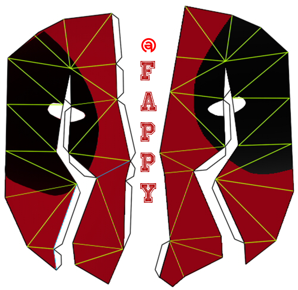 Deadpool mask papercraft by FAPPYGITAS on DeviantArt