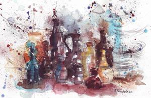 Bottles by MarinaVeselinovic