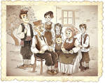 Old Traditional Serbian Family