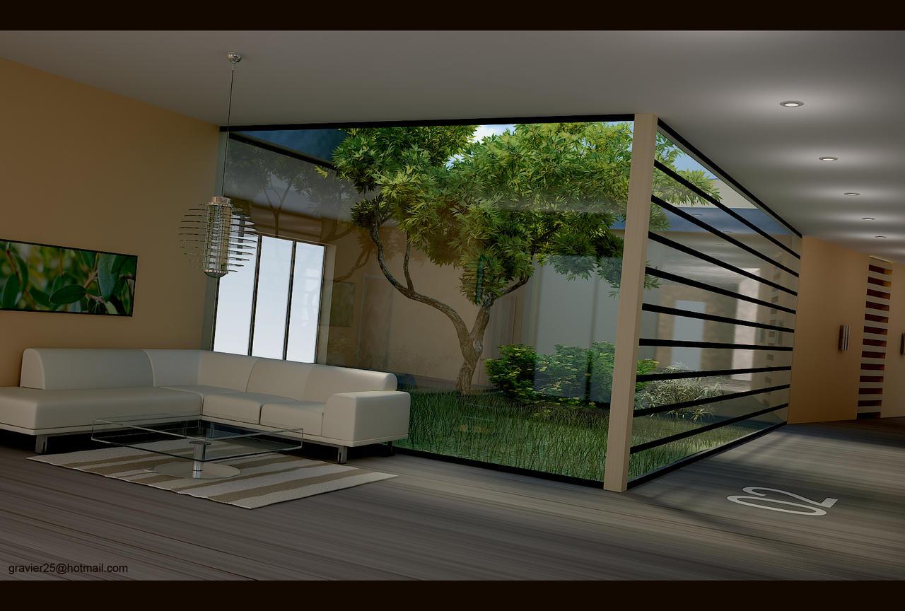 Atrium garden by gravier25 on deviantart for Indoor house design ideas