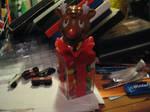Rudolph Bobble-head MandM box by TaionaFan369