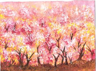 Watercolor- Sakura by justinedarkchylde
