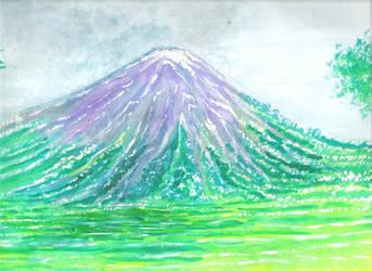 Watercolor- Mountain by justinedarkchylde