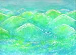Watercolor- Hills of Bohol by justinedarkchylde