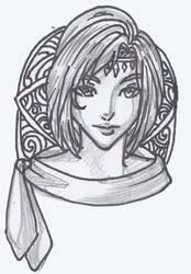 Female Headshot 3 by justinedarkchylde