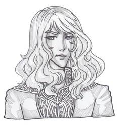Bust-sketch by justinedarkchylde