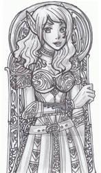 Stylized-Art Sketch by justinedarkchylde
