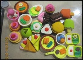 Food Erasers 3.0 by justinedarkchylde
