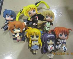 Nanoha Figures by justinedarkchylde