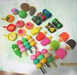 Assorted Eraser Foods