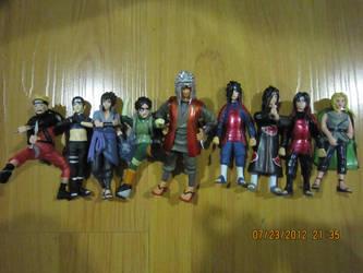 Naruto Gashapon set 2 by justinedarkchylde