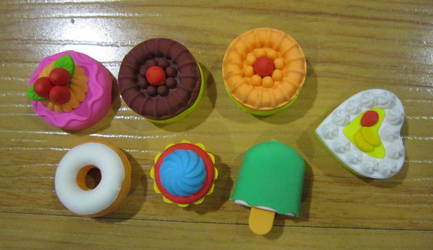 Eraser Food by justinedarkchylde