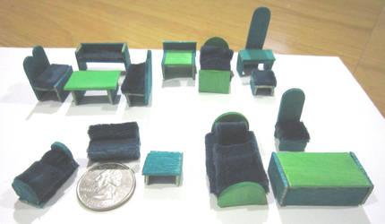 Tiny Dollhouse Furniture by justinedarkchylde