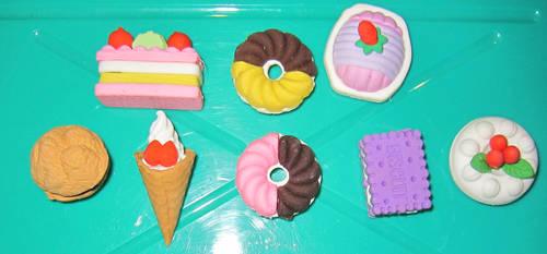 More Eraser Food by justinedarkchylde