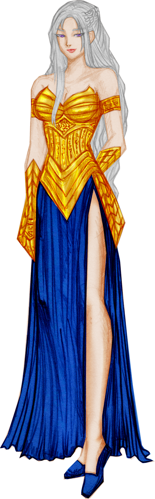 Gold and Blue version for Widowmaker by justinedarkchylde