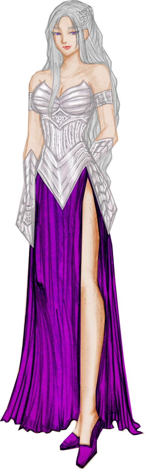 Silver and Purple version by justinedarkchylde
