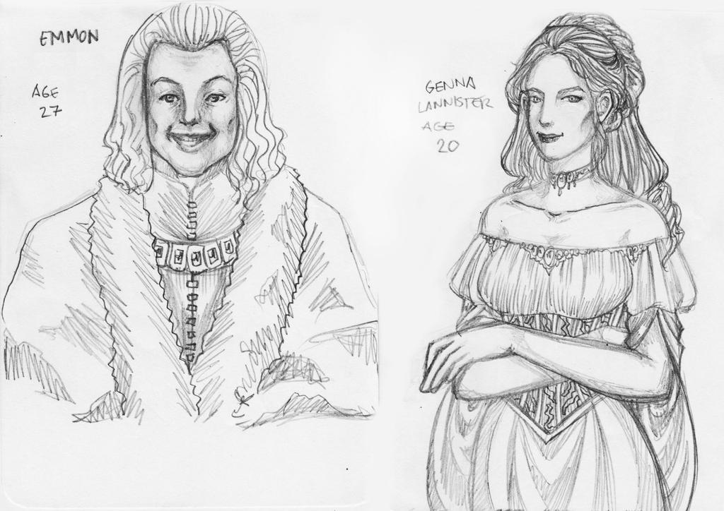 Genna Lannister and Emmon Frey Fanart by justinedarkchylde