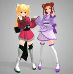 MMD - UTAU Pururu and Akemi Konai DL