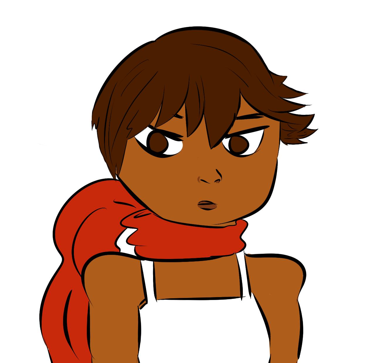 Ninja Girl Mai WIP by thechokolateprincess