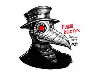 Gore Inktober 2017 - #29 (Plague Doctor) by Zismo-W