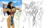 WW digital colors under AH drawing brilliance