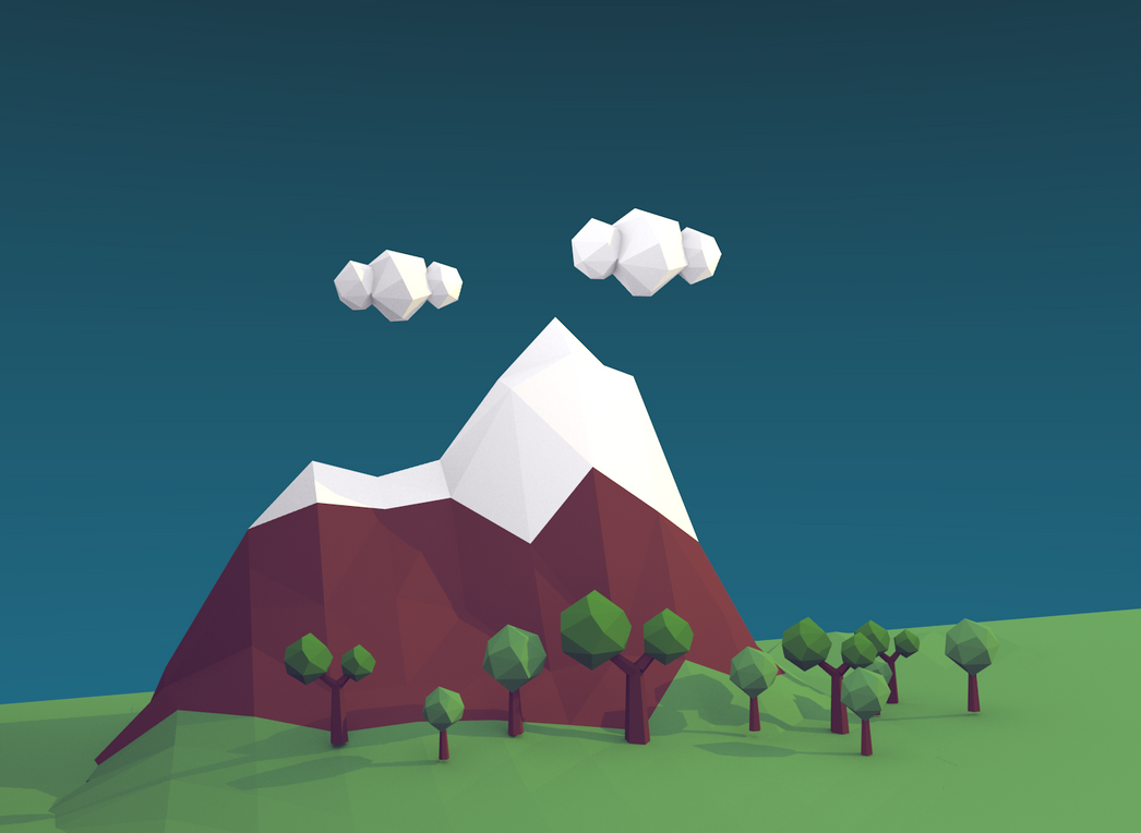 Low poly mountain by iBallisticCat