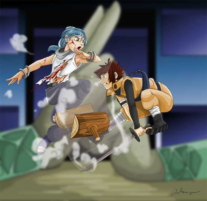 Mid-Air Collision by nyausi