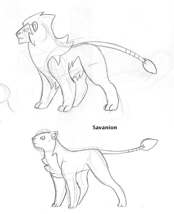 Fakemon - Savanion by nyausi