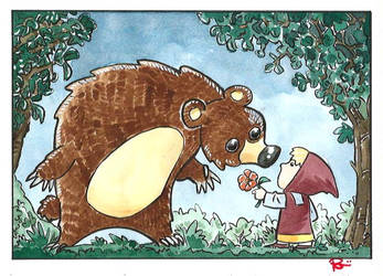 The little girl and the bear by Orsorama