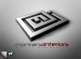 Montana interiors 3D logo
