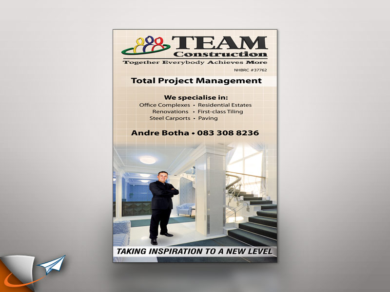 Team Construction signage by Infoworks