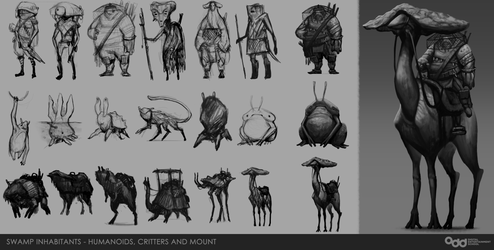 Swamp Inhabitants Concepts by SilentIvo
