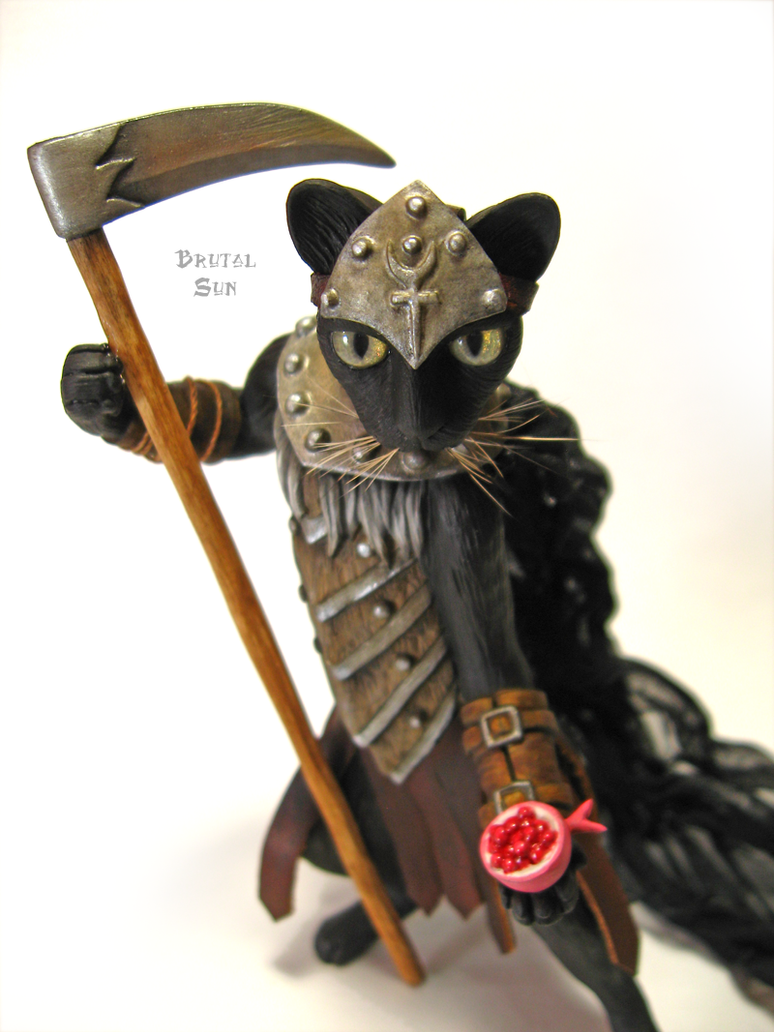 Lord Hades of the Underworld as a cat by brutalsunstudio