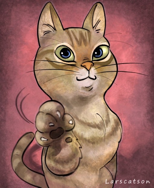 Hot!!! Cat fist bump what waste