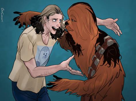 Peter Mayhew and Chewbacca!