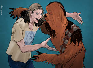 Peter Mayhew and Chewbacca!