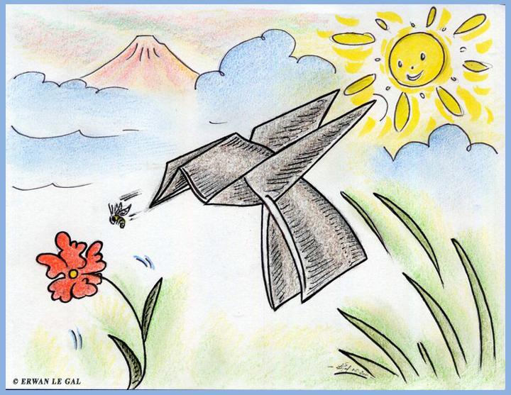 Origami Honey Bee And Bird By ERWANLEGAL