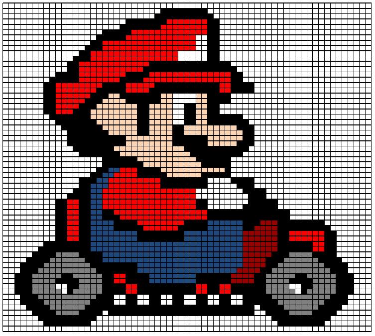 Mario Knitting Pattern by black-sax on DeviantArt