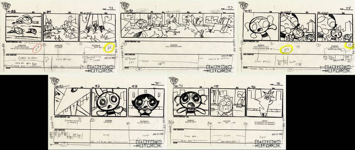 Ultra Rare PPG Storyboards 4/08/1998