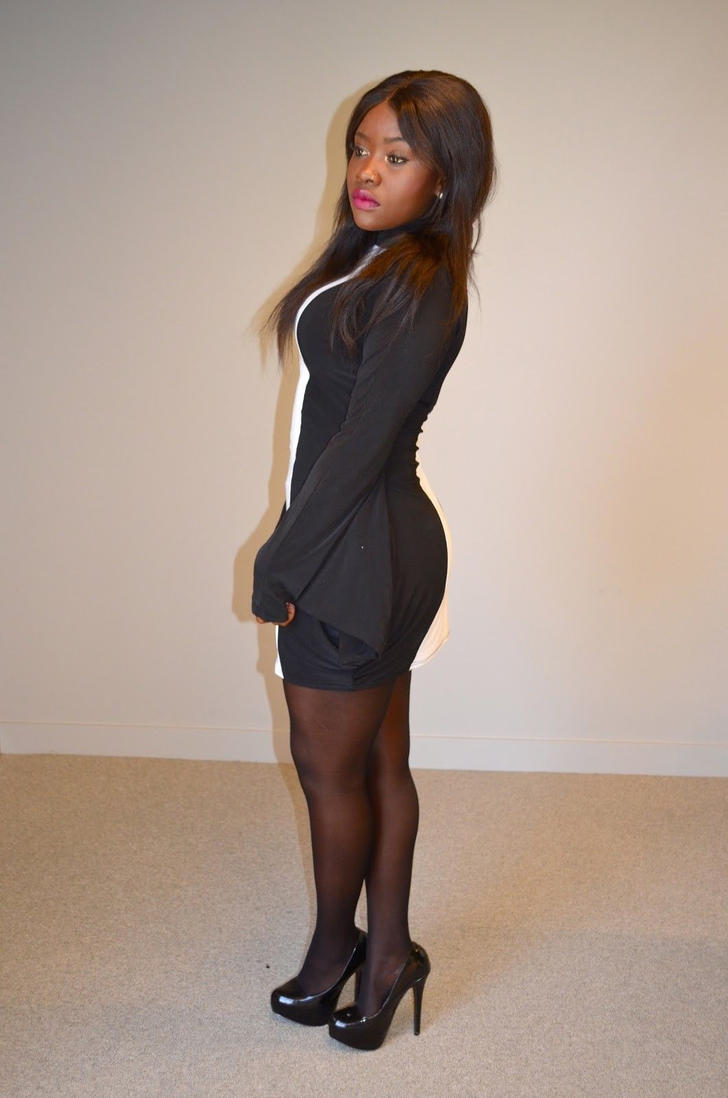 My ebony and black girlfriend in heels  pron photo