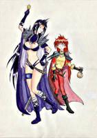 Lina and Naga by number551
