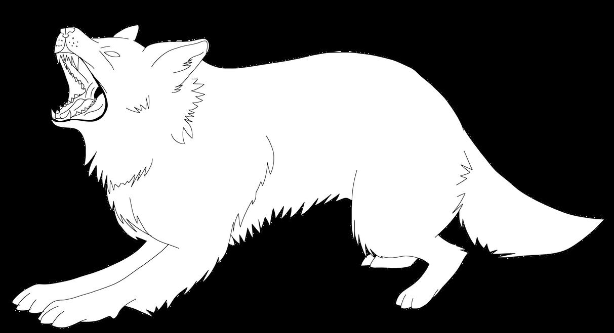 dog or wolf Outline by MindART-ftw on DeviantArt