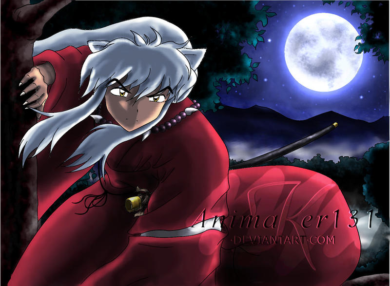 InuYasha's Moon colored by Animaker131